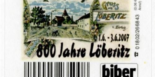 Briefmarke 800 Jahre Löberitz